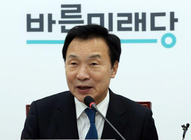 손학규 바른미래당 대표가 12일 오전 서울 여의도 국회에서 열린 최고위원회의에서 모두발언을 하고 있다.