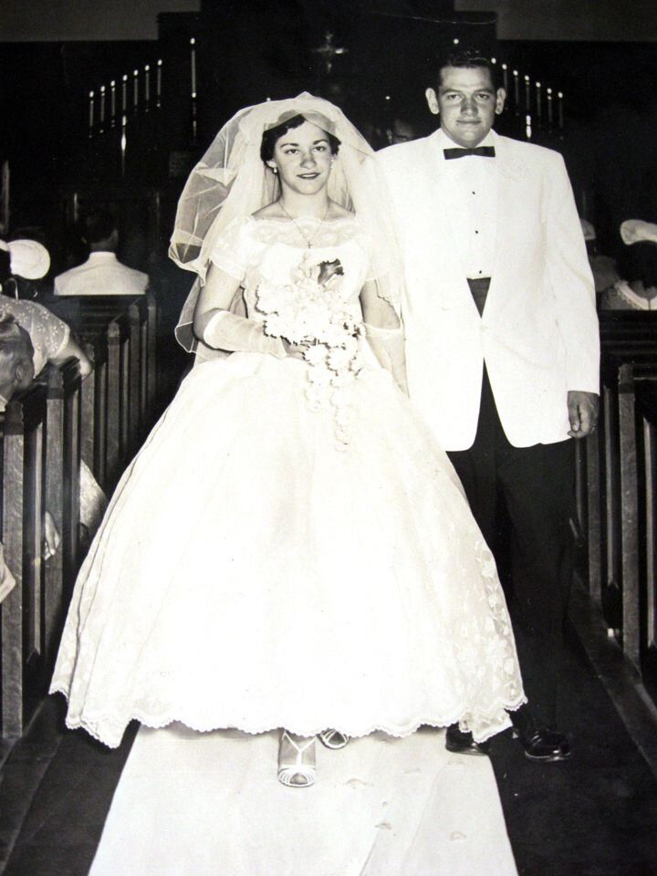 1956年の結婚式の写真