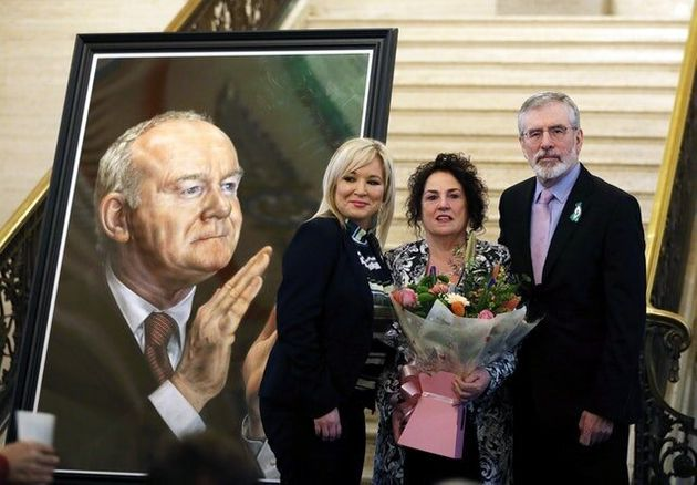 Martin McGuinness Portrait Unveiled In Front Of His Widow And