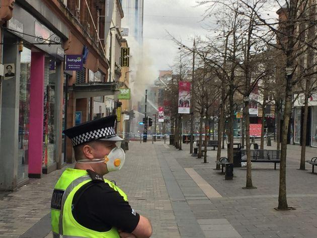 'Massive Blaze' Engulfs Building In Glasgow City