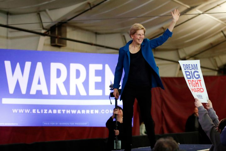 Despite being from a neighboring state, Sen. Elizabeth Warren (D-Mass.) did not make the top tier in New Hampshire's primary.