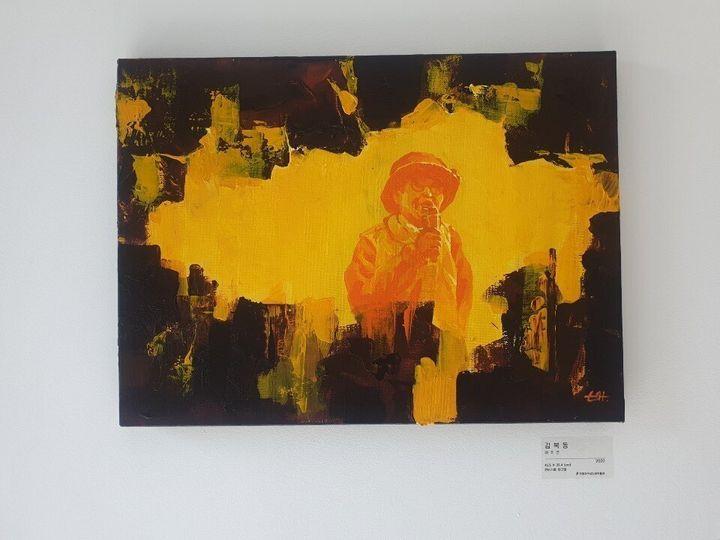 11일 전쟁과여성인권박물관에서 열린 고 김복동 할머니 1주기 추모전 '나비의 꿈'에 전시된 배주연씨의 작품 '김복동'