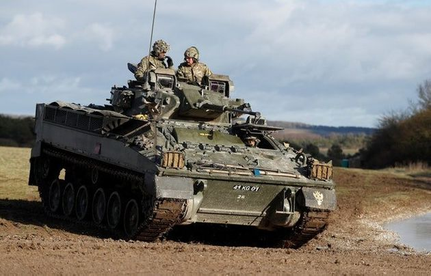 Charles Takes A 'Brilliant' Ride In A Warrior Armoured
