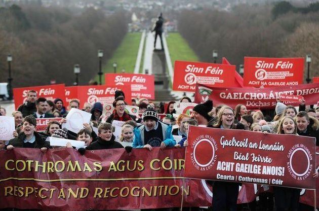 Irish Language Pupils Stage Protest At