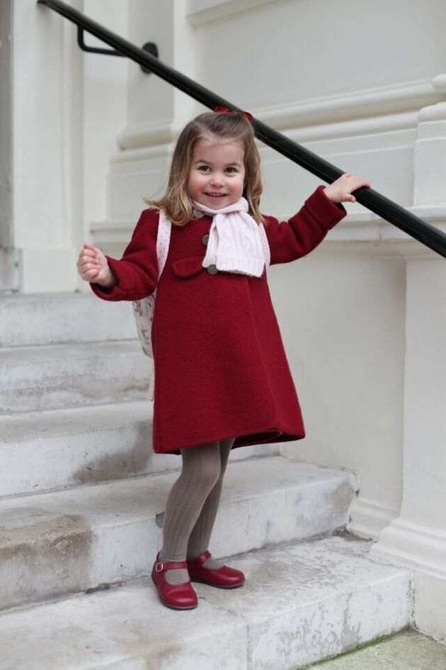 Princess Charlotte In The Picture On Her First Day At Nursery