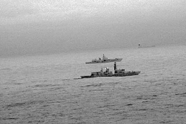 Navy Warship HMS Westminster Escorts Russian Vessels Through English