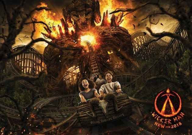 Alton Towers Unveils Flaming Wicker Man