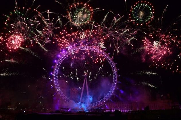 In Pictures: London And Edinburgh Celebrate New Year With A