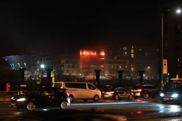 Fire Destroys All Vehicles In Multi-Storey Car Park Next To Liverpool Echo