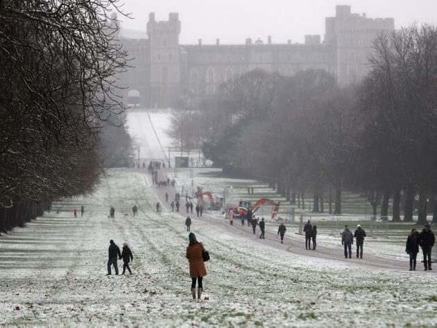 In Pictures: Storm Caroline Turn Parts Of UK Into Winter