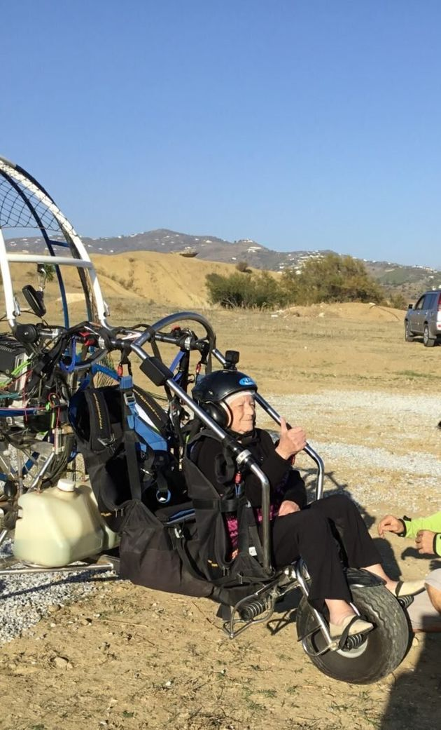Paragliding Pensioner Connie Lifts Off To Help Pets Charity – At The Age Of