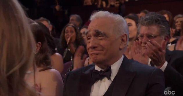 봉준호의 감독상 수상소감 중, 마틴 스콜세지의 이름이 언급되자 관객들은 박수를 치기