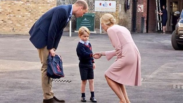William Hails Smooth First Day At School For Prince