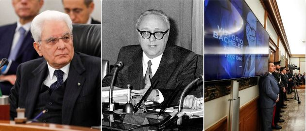 Il presidente della Repubblica, Sergio Mattarella, al Csm per la commemorazione - Vittorio Bachelet -...