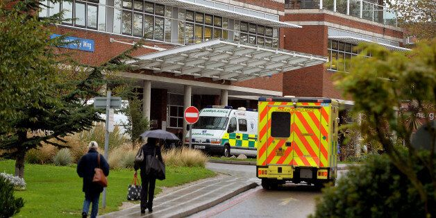 The main road entrance for St George's Hospital in Tooting, south west