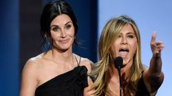 Jennifer Aniston And Courteney Cox Look Like Sisters In Birthday Celebration