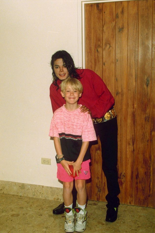 Michael Jackson and Macaulay Culkin in