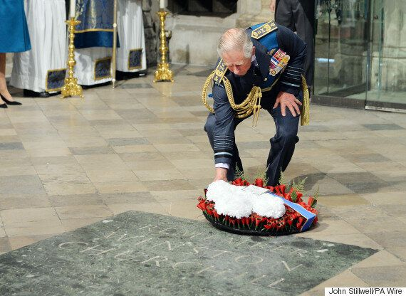 Prince Charles Lays Wreath At Service To Mark Battle Of Britain's 75th