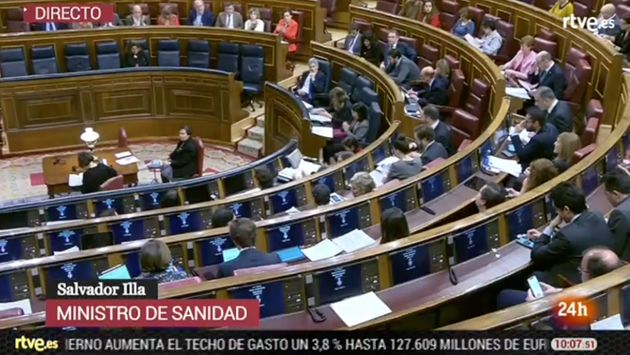 El Congreso semivacio tras la intervención de Salvador