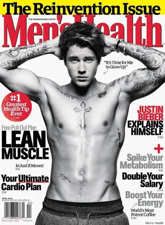 Justin Bieber Gets Shirtless For Men's Health Cover Photo, Talks Growing Up In The Spotlight