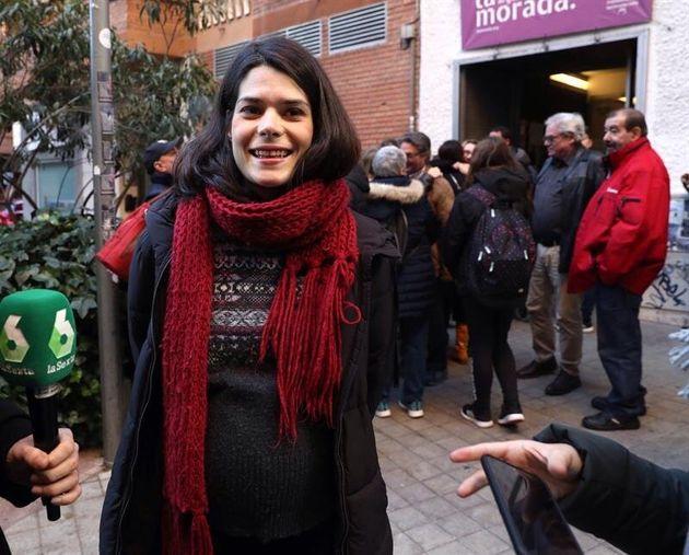 La portavoz de Podemos en la Asamblea de Madrid, Isa Serra. EFE/ Kiko