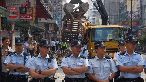 Hong Kong's Mong Kok 'Occupy' Camp Shrinks After Police