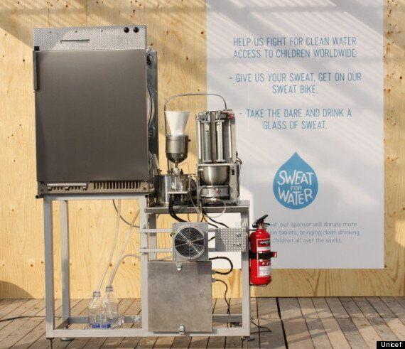 UNICEF's 'Sweat Machine' Turns Perspiration Into Drinking