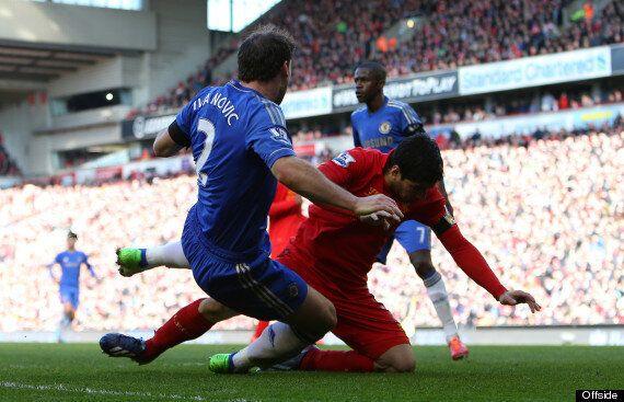 Luis Suárez Bites Branislav Ivanović During Liverpool Vs.