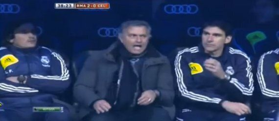 José Mourinho Goes Mad Over Foul On Cristiano Ronaldo