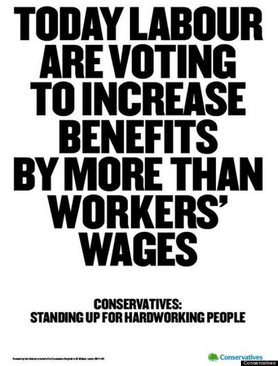Tory Benefits Cut Vote Poster Targets Labour
