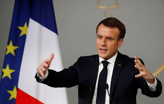Emmanuel Macron lors de la conférence sur le handicap à l'Elysée, mardi 11