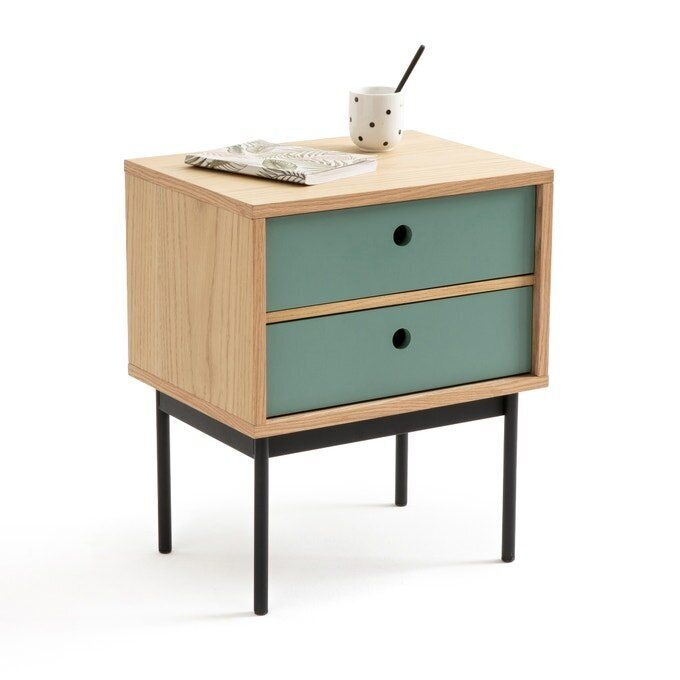 Nyjo Bedside Table with 2 Reversible Drawers, Laredoute