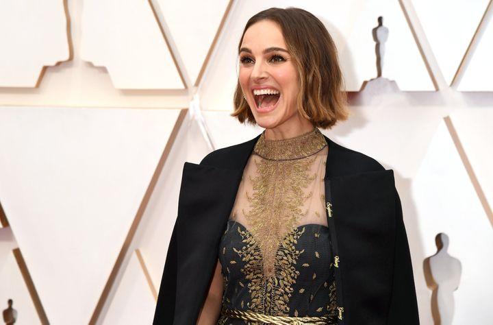 Natalie Portman en los Oscar 2020.