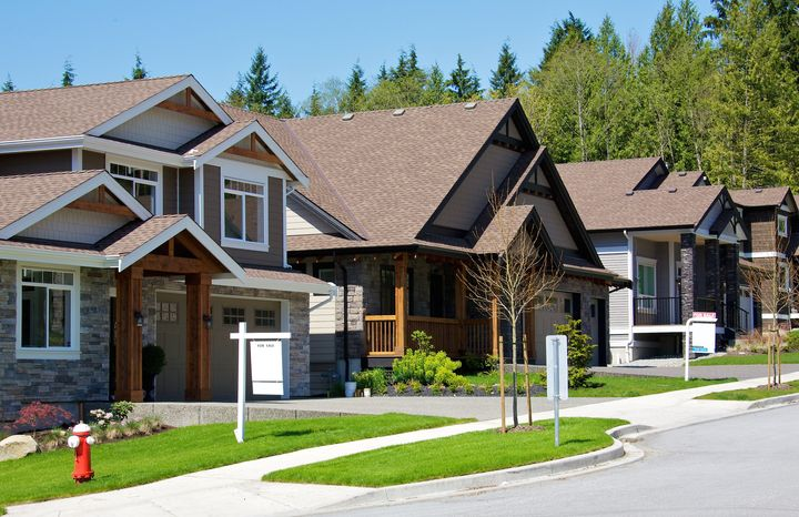 A stock photo of suburban homes in Greater Vancouver. The city has seen very little interest in the federal First-Time Homebuyer Incentive.