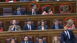 Los diputados del PP miran hacia ahí y no es para menos: lo que había no es un montaje (aunque lo