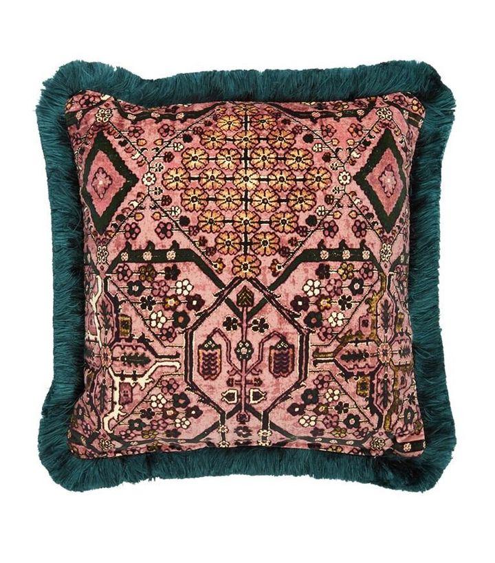 House Of Hackney Velvet Mey Meh Cushion, Harrods