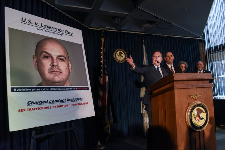 U.S. Attorney for the Southern District of New York Geoffrey Berman announces charges against Lawrence Ray on Tuesday in New