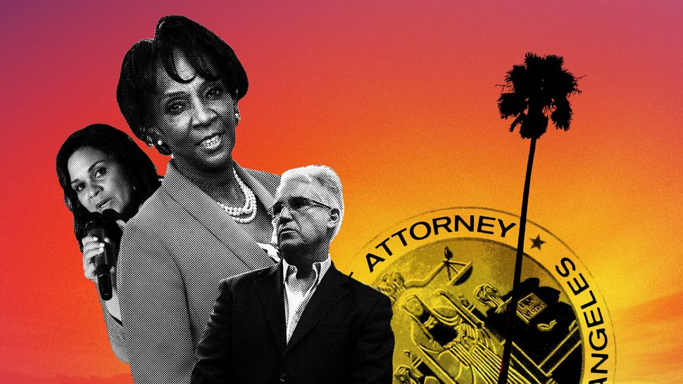 Jackie Lacey (center), the incumbent Los Angeles County district attorney, faces two notable progressive challengers ― R