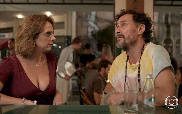 Letícia Isnard (Tracy) e Enrique Diaz