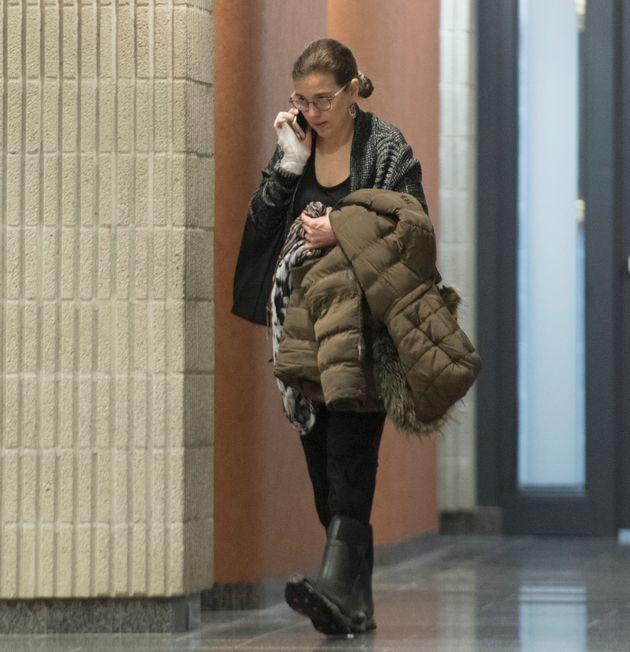 Clara Wasserstein arrive au palais de justice de Montréal, le lundi 10 février