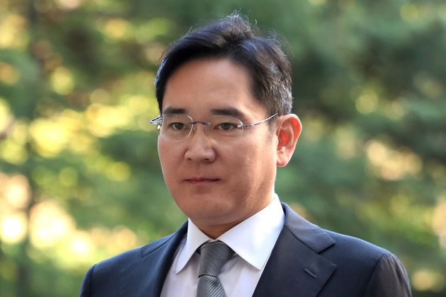 Samsung Electronics Vice Chairman Lee Jae-yong arrives at the Seoul High Court in Seoul, South Korea,...