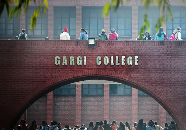Students at Delhi University's Gargi