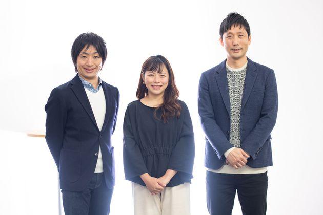 左から、駒崎弘樹さん、田中伶さん、田中俊之さん