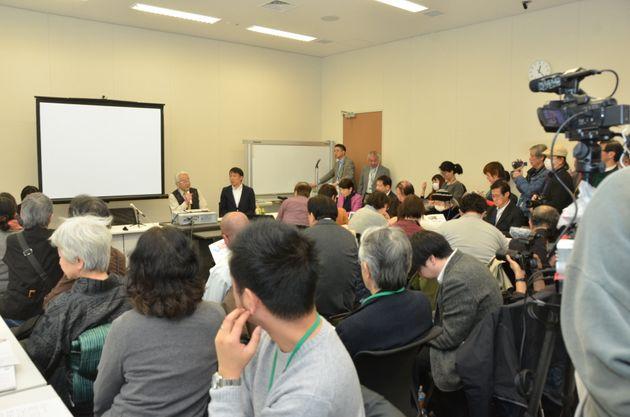 「『報ステ』を問う」集会に集まった人たち