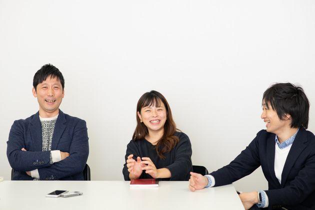 台湾の子育てについて語る、田中伶さん(中央)