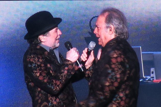 Serrat y Sabina, en el concierto en el Wizink Center de Madrid el 12 de febrero de