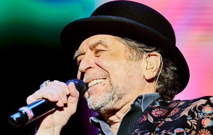 Joaquín Sabina, en el concierto del 12 de febrero de 2020 en el Wizink Center de Madrid.