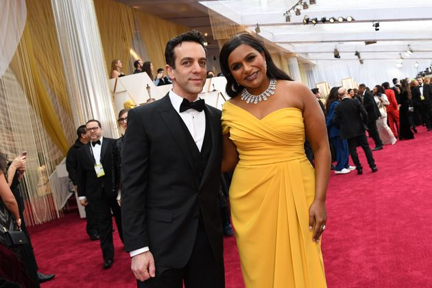 B.J. Novak and Mindy Kaling arrive for the 92nd Oscars at the Dolby Theatre in Hollywood, California...