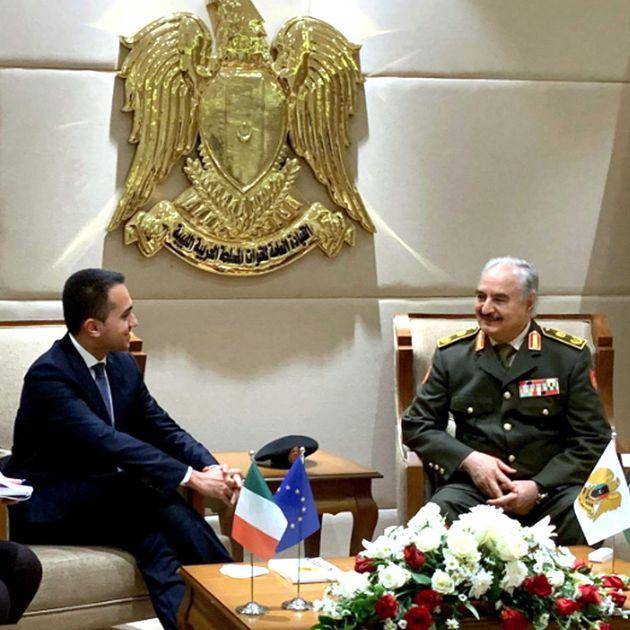 L'incontro tra Di Maio e Haftar a