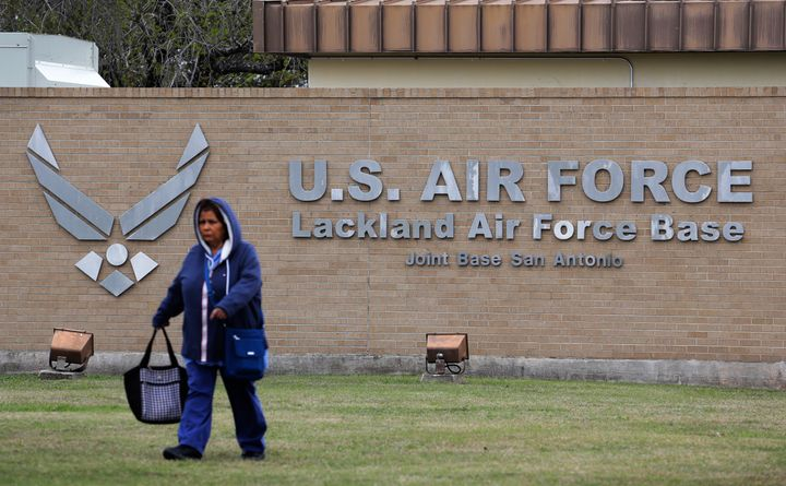 A person quarantined at this Air Force base in San Antonio, Texas, after evacuated from China has tested positive for the cor